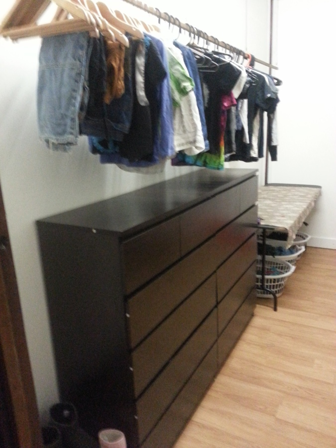 Our family clothes room!
