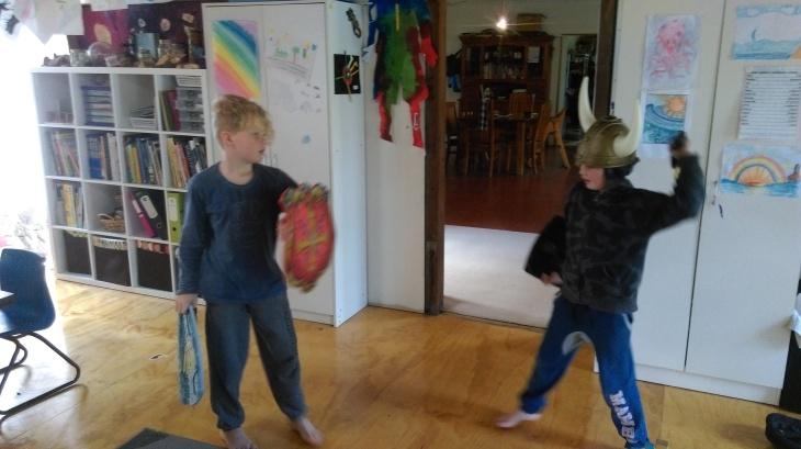 Homeschool Sword fight