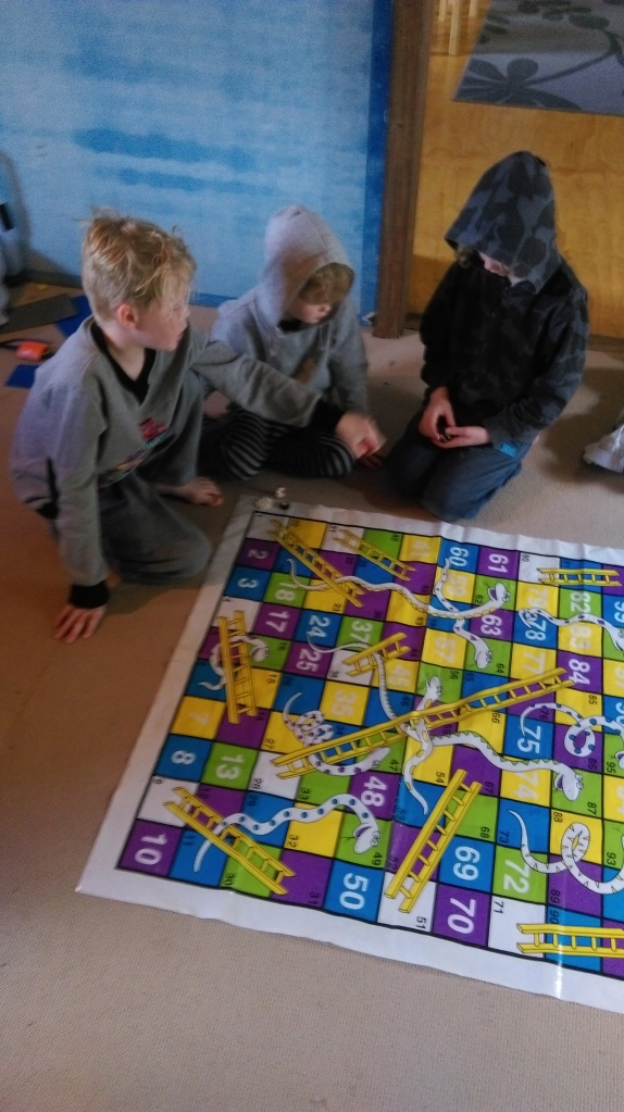HOmeschooling snakes and ladders